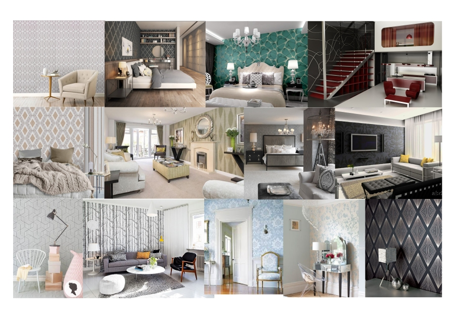 Contemporary Interior Design Moodboard