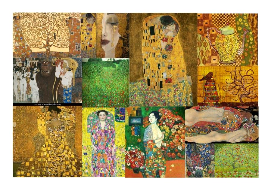 Gustav Klimt Moodboard