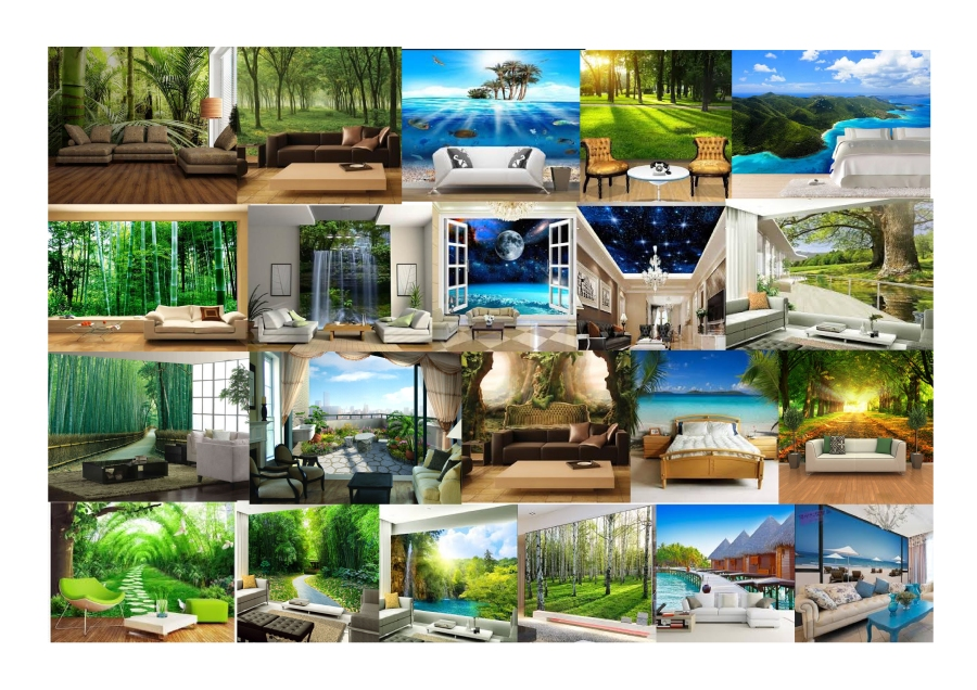 Natural Photo Interior Wallpapers Moodboard