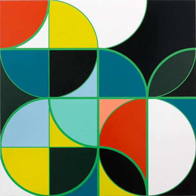 Sarah Morris Painting Academia Militar Rio Art Brazil Abstract