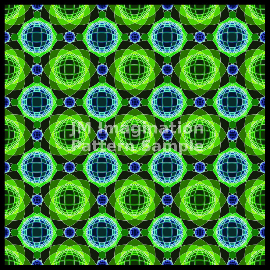 10 Inverted Vassarely Flower Green Sample