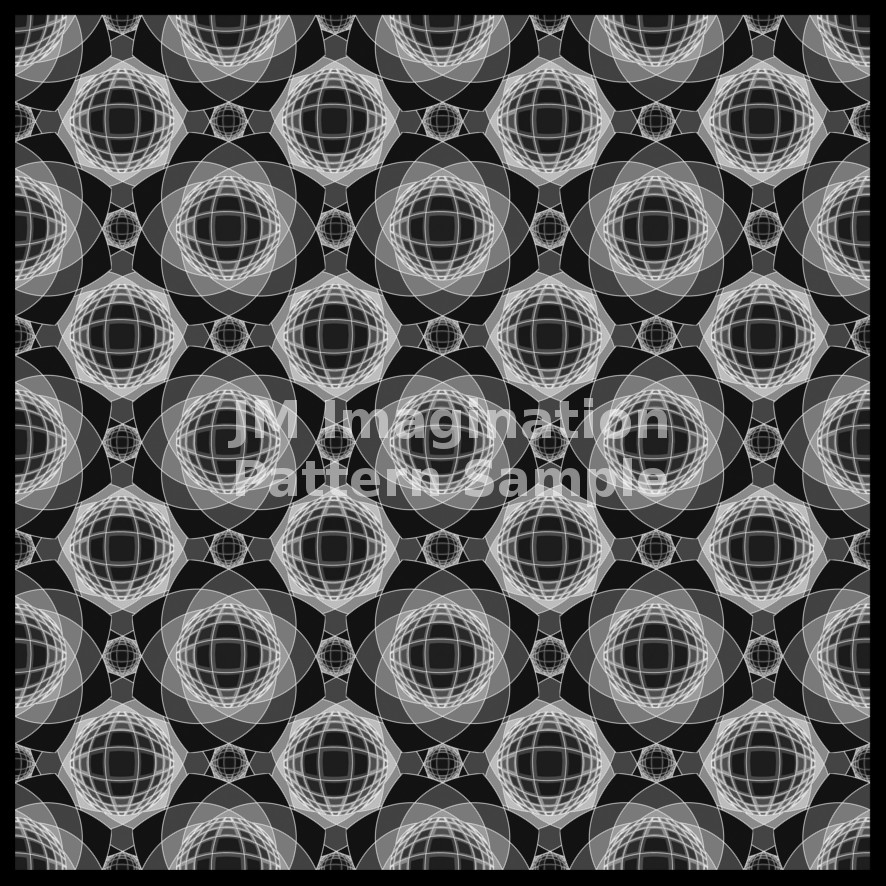 10 Inverted Vassarely Flower Greyscale
