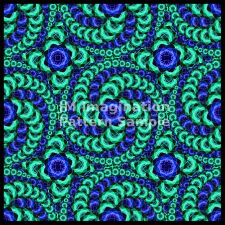 11 Vassarely Fibonacci Blue Sample