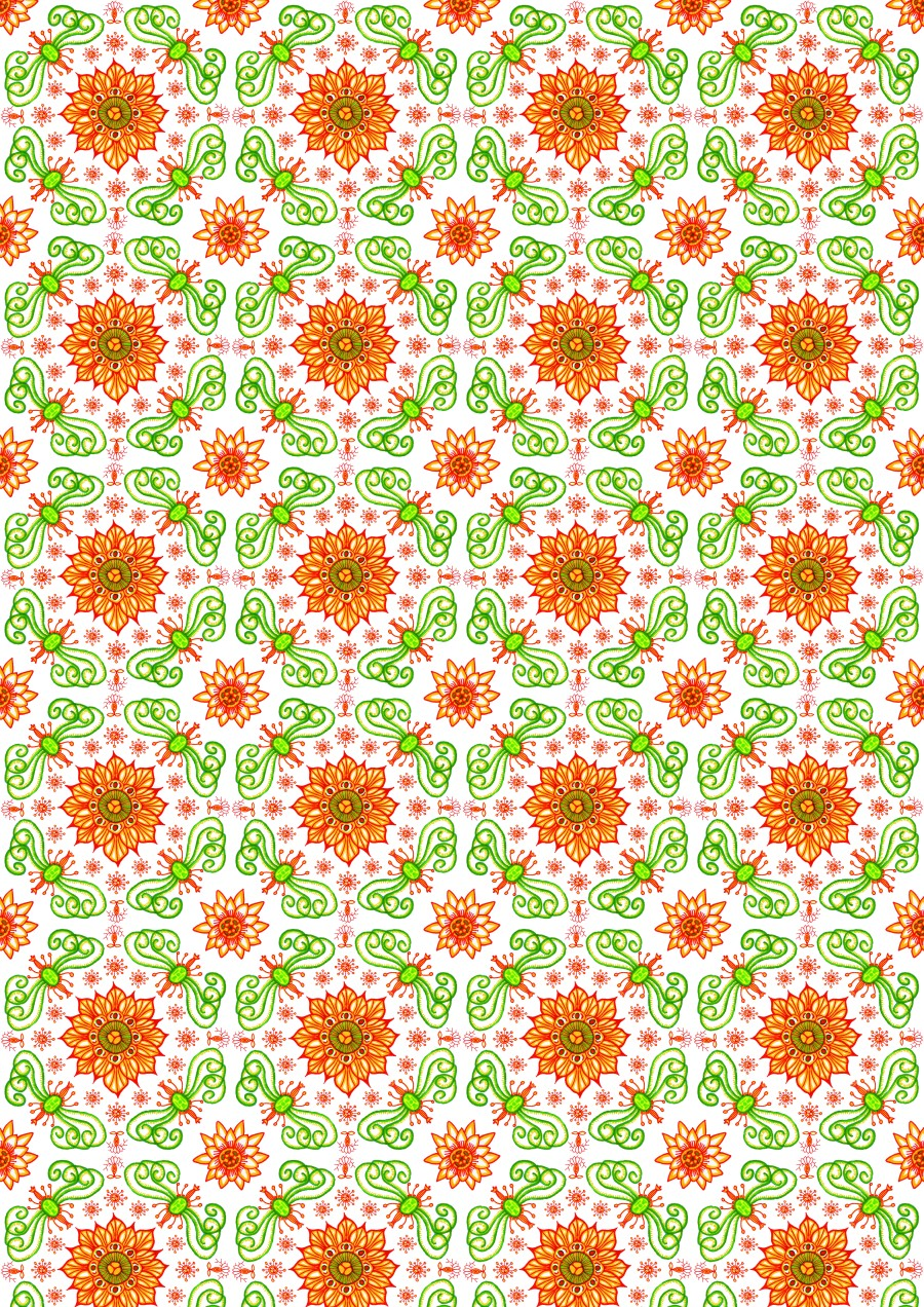 Poster 6 - Indian Flowers White